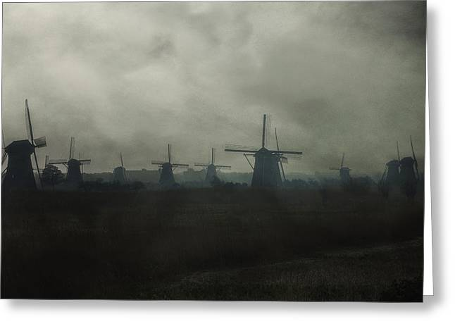 Mills Greeting Cards - Windmills Greeting Card by Joana Kruse