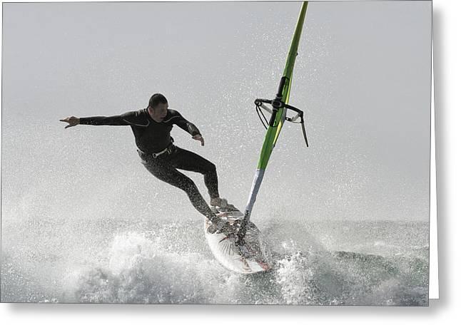 Tarifa Greeting Cards - Windsurfing Tarifa, Cadiz, Andalusia Greeting Card by Ben Welsh