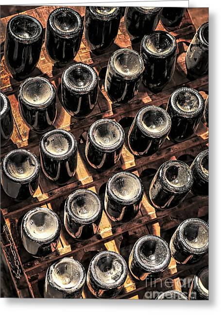 Wine Bottles Greeting Card by Elena Elisseeva