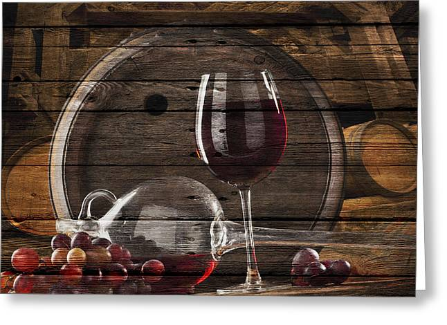 Supply Greeting Cards - Wine Greeting Card by Joe Hamilton