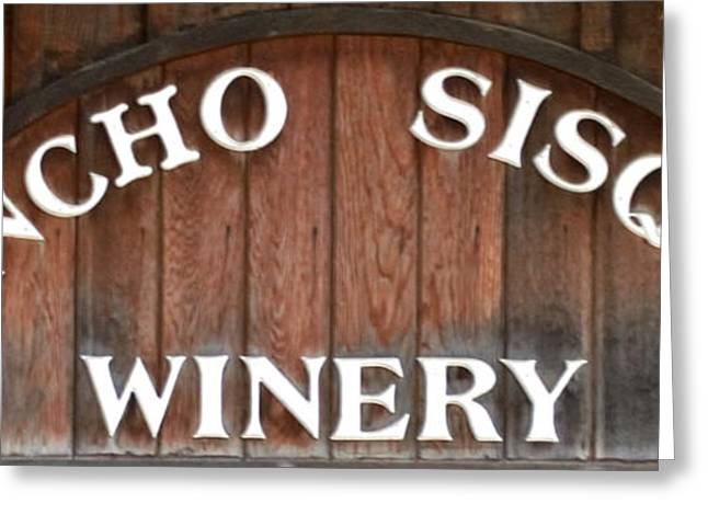 Winery Photography Greeting Cards - Winery Sign Greeting Card by Barbara Snyder