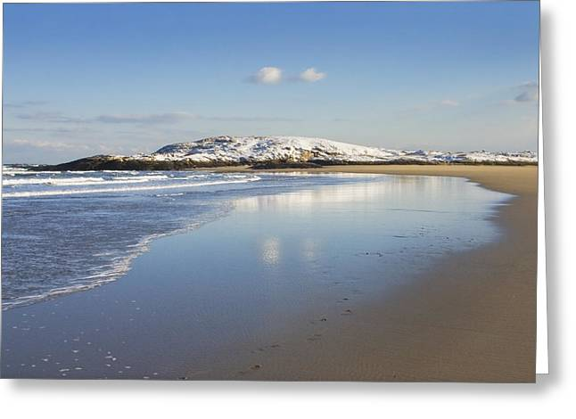 New England Ocean Greeting Cards - Winter at Popham Beach State Park Maine Greeting Card by Keith Webber Jr