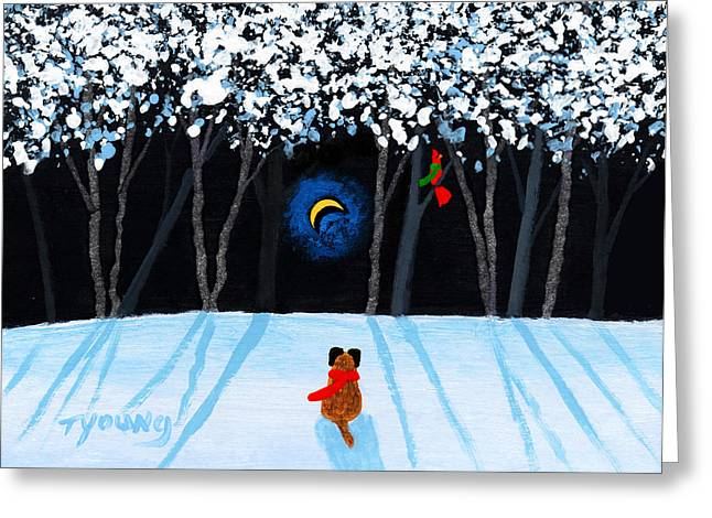Snow Tree Prints Greeting Cards - Winter Forest Greeting Card by Todd Young