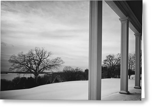 Mount Vernon Greeting Cards - Winter from the Porch of Mount Vernon Greeting Card by Mountain Dreams