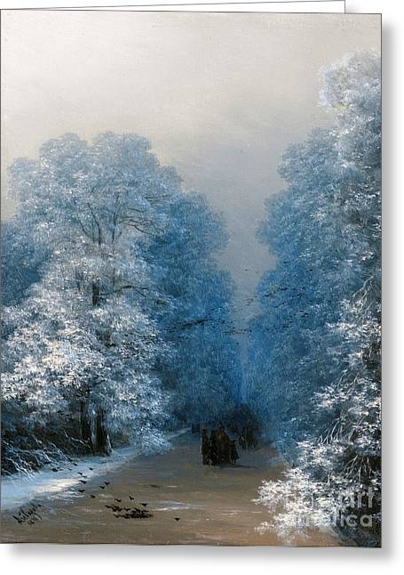 Snow Tree Prints Greeting Cards - Winter Landscape Greeting Card by Pg Reproductions