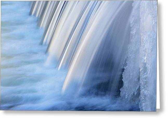 Portage Photographs Greeting Cards - Winter Portage Creek Cascade Greeting Card by Dean Pennala
