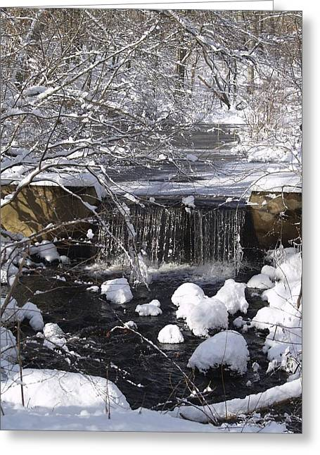 Winter Waterfall Greeting Card by Patricia McKay