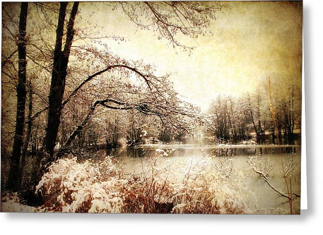 Winter Landscape Digital Greeting Cards - Winters Arrival  Greeting Card by Jessica Jenney