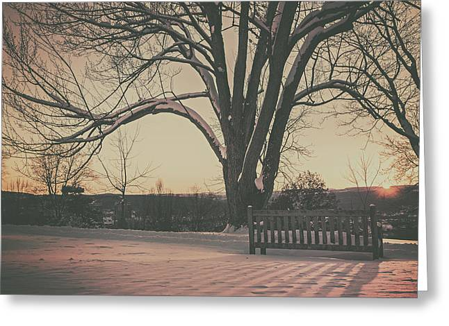Snowy Evening Greeting Cards - Wintry Twilight Greeting Card by Ryan McGuire