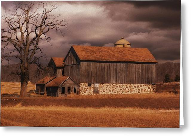 Stones Greeting Cards - Wisconsin Barn Greeting Card by Jack Zulli
