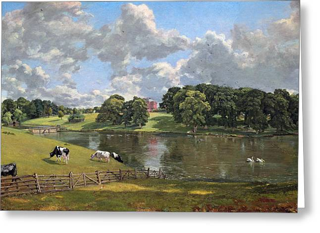 Constable Greeting Cards - Wivenhoe Park Greeting Card by John Constable