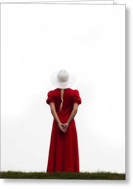 Anonymous Greeting Cards - Woman In Red Greeting Card by Joana Kruse