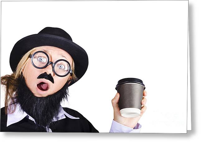 Woman With Cup Of Coffee Greeting Card by Jorgo Photography - Wall Art Gallery