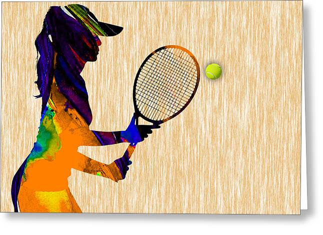 Womens Tennis Greeting Cards - Womens Tennis Greeting Card by Marvin Blaine