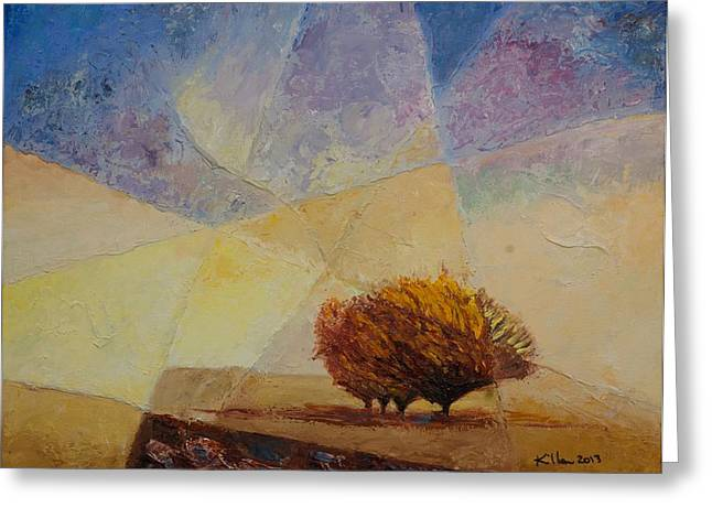 Pallet Knife Greeting Cards - Wonder Greeting Card by William Killen