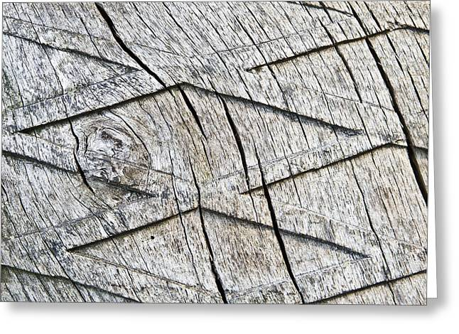 Bark Design Greeting Cards - Wood carving Greeting Card by Tom Gowanlock