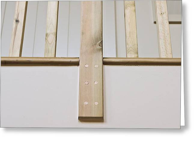 Timber Posts Greeting Cards - Wooden bannister Greeting Card by Tom Gowanlock