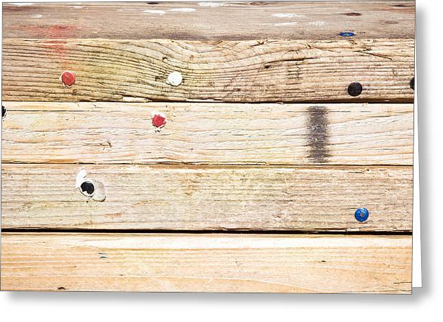 Design Drawings Greeting Cards - Wooden planks Greeting Card by Tom Gowanlock