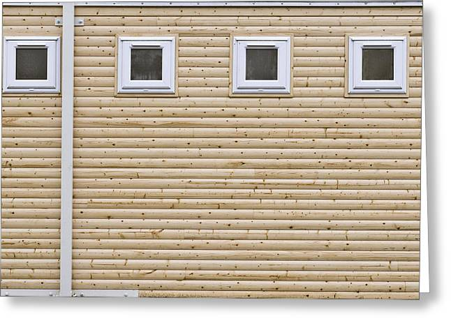 Timber Posts Greeting Cards - Wooden wall Greeting Card by Tom Gowanlock