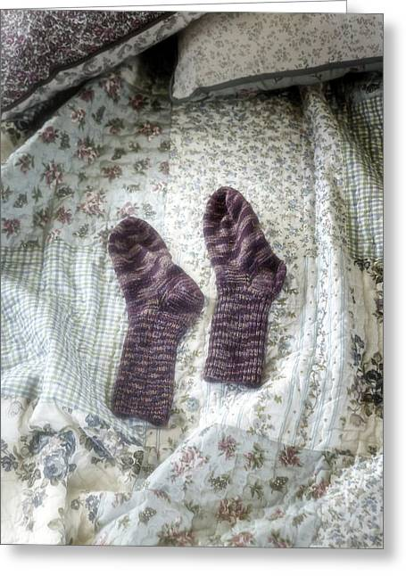 Cushion Photographs Greeting Cards - Woollen Socks Greeting Card by Joana Kruse