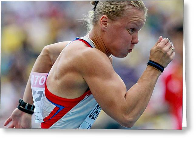 Tatyana Greeting Cards - World Athletics Championships, Korea Greeting Card by Science Photo Library