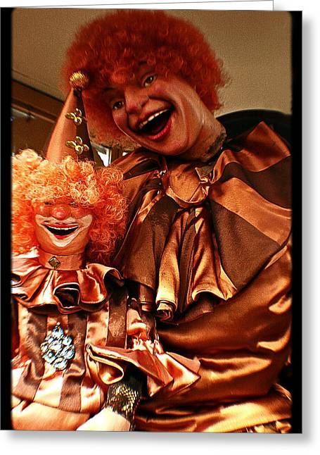 Amusements Greeting Cards - World Famous Clown From 1936 Greeting Card by Michael Braham
