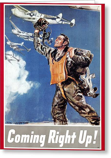 Flagg Greeting Cards - World War Ii: U.s. Poster Greeting Card by Granger