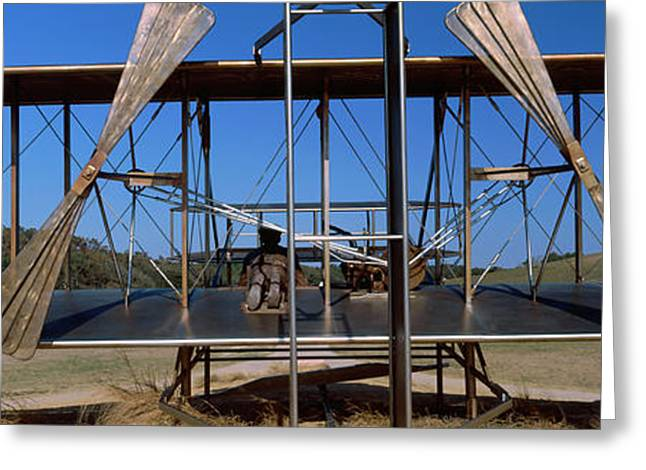 Wright Flyer Sculpture At Wright Greeting Card by Panoramic Images
