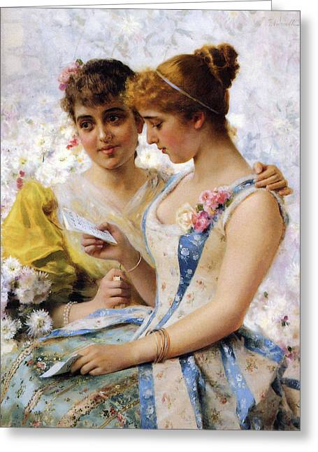 Love Letter Greeting Cards - The Love Letter Greeting Card by Federico Andreotti