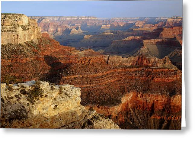Photogaphy Greeting Cards - Yavapai Point Morning Greeting Card by Stephen  Vecchiotti