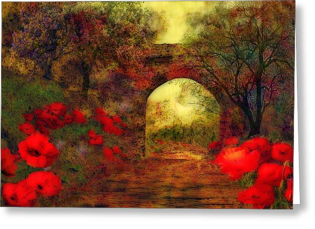 Kelly Greeting Cards - Ye olde railway bridge Greeting Card by Valerie Anne Kelly
