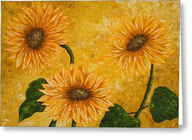 Tropics Mixed Media Greeting Cards - Yellow Daisies Greeting Card by Pamela Allegretto