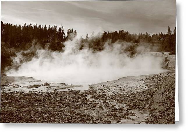 Yellowstone National Park - Mud Pots Greeting Card by Frank Romeo