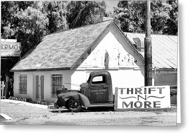 Yermo Greeting Cards - Yermo Thrift N More Greeting Card by Patricia Januszkiewicz