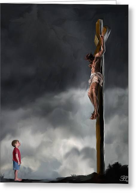 Beauty Mark Digital Greeting Cards - Yes Jesus Loves Me Greeting Card by Mark Spears