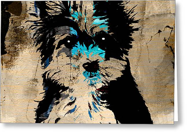 Pet Portraits Greeting Cards - Yorkshire Terrier Greeting Card by Marvin Blaine