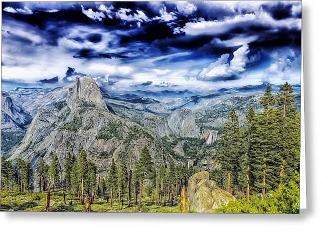 Mountain Valley Greeting Cards - Yosemite Beauty Greeting Card by Mountain Dreams
