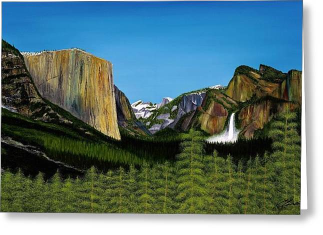 Half Dome Paintings Greeting Cards - Yosemite Greeting Card by Clinton Cheatham