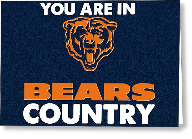League Paintings Greeting Cards - You are in Bears Country Greeting Card by Celestial Images