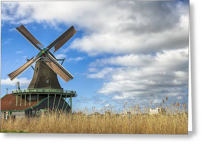Zaanse Schans Greeting Card by Joana Kruse