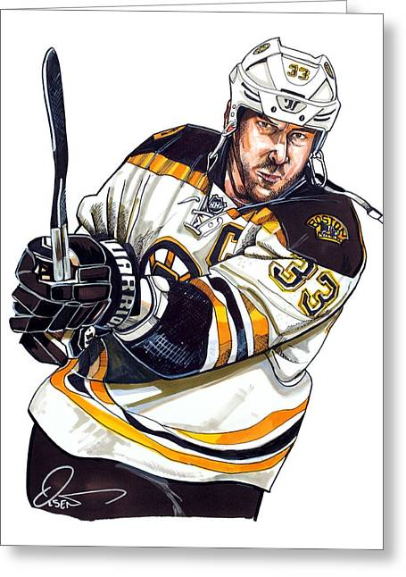Professional Ice Hockey Greeting Cards - Zdeno Chara Greeting Card by Dave Olsen