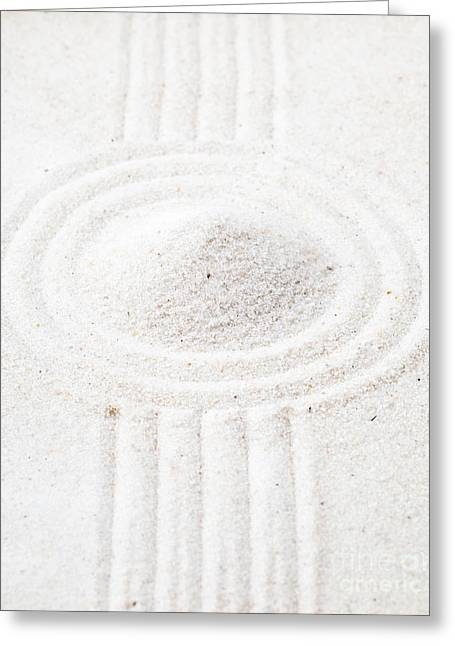 Sand Patterns Sculptures Greeting Cards - Zen garden Greeting Card by Shawn Hempel