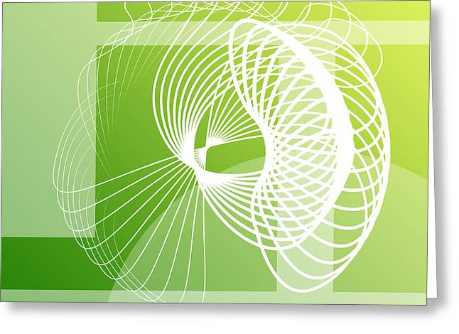 Geometric Effect Greeting Cards - Abstract  Greeting Card by GP Images