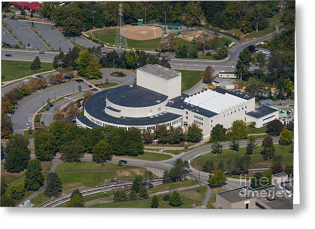 Cac Greeting Cards - aerials of WVVU campus Greeting Card by Dan Friend