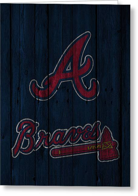 Player Photographs Greeting Cards - Atlanta Braves Greeting Card by Joe Hamilton