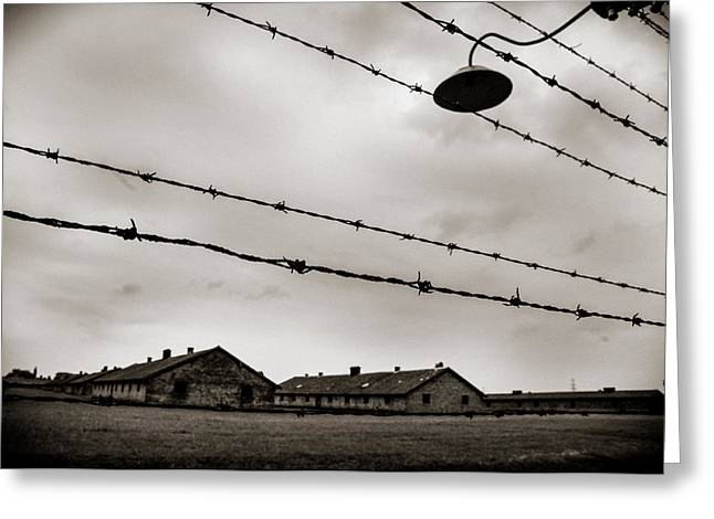 Wwii Greeting Cards - Auschwitz Greeting Card by Mihai Ilie