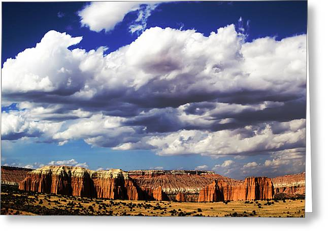 Monolith Greeting Cards - Capitol Reef National  Park Cathedral Valley Greeting Card by Mark Smith