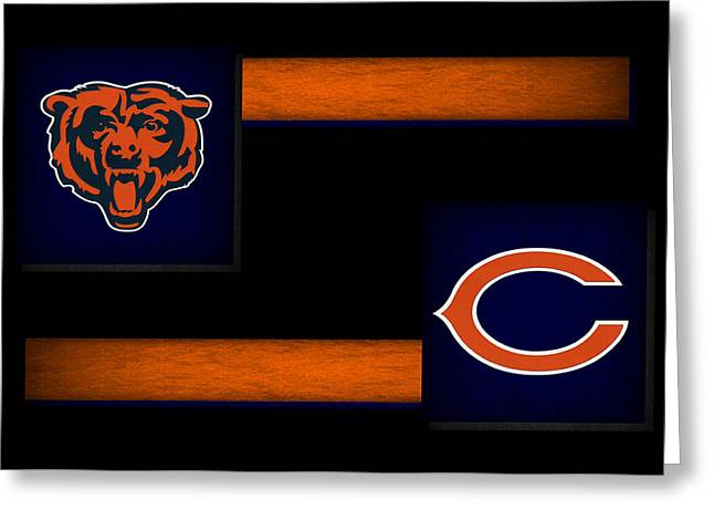 Snow Greeting Cards Greeting Cards - Chicago Bears Greeting Card by Joe Hamilton