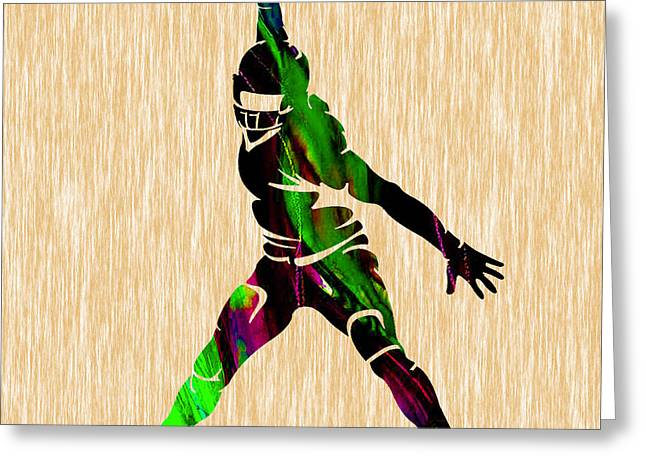 Sport Greeting Cards - Football Greeting Card by Marvin Blaine