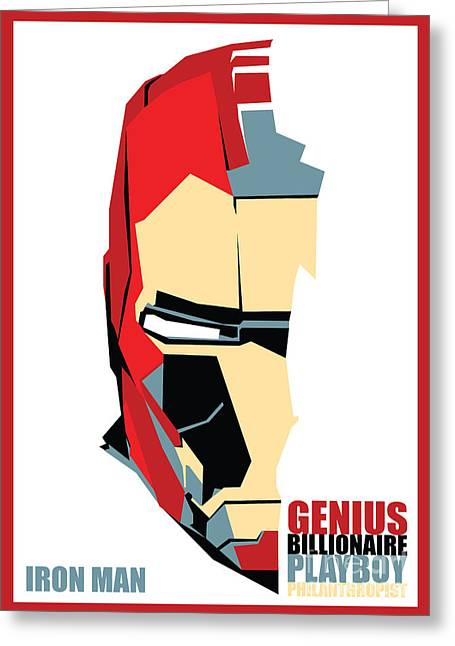 Famous Artist Greeting Cards - Iron Man Greeting Card by Caio Caldas